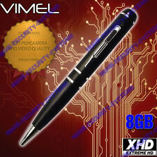 Security Camera Pen Camera 8GB Body Police Cam 1080P Vimel Video NO SPY Hidden