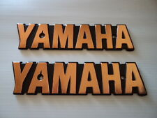 YAMAHA Fuel Gas Tank Emblem Badges Petrol Gold XS650 XS 650 Special *UK STOCK*