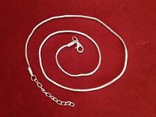 Sterling Silver 925 snake necklace chain 925 sterling silver lobster clasps.
