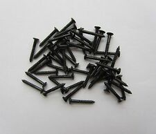 50x LP Guitar Pickup Surround Screw Humbucker Pickup Ring Mounting Screws Black