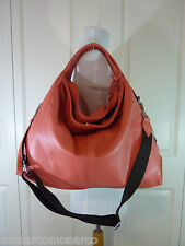 NWT Furla Salmon/Speed/Pinkish Orange Pebbled Leather Elisabeth Tote Bag $498