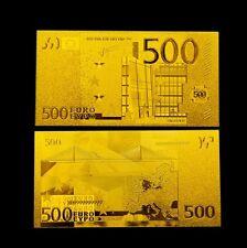 500 € Euro Gold Banknote - 24 Karat .999 Gold Geldschein NEU Goldschein *selten