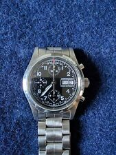 Hamilton Khaki Automatic chronograph Wrist Watch 041520 39mm rare valjoux