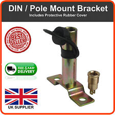 DIN POLE MOUNT SOCKET FOR BEACONS RUBBER COVER AND MOUNTING BRACKET TRACTOR PM2