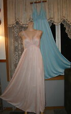 Vintage OLGA Nightgown Lot! TWO Gowns - One Pink, One Blue; EXC!! Sz. S/M