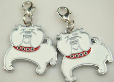 1p Dog Collar Tag Disc Disk Pet ID Enamel Accessories Necklace Pendant Metal an9