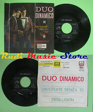 LP 45 7'' DUO DINAMICO Un'estate senza te Desilusion 1965 italy LA VOCE no cd mc