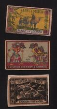VERY OLD match box labels CHINA or JAPAN patriotic #580