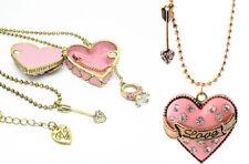 lange Kette Medaillon Love rosa Herz Halskette Bild Foto Anhänger zum öffnen