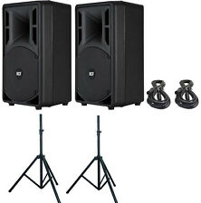 "TWO RCF ART 310-A MKIII 10"" Speakers w/ 2 CABLES and 2 STANDS ART310"