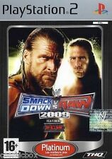 SMACK DOWN vs RAW 2009 jeu de catch combat console PlayStation 2 Sony PS2 NEUF
