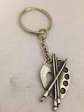 Artists Palette R109 English Pewter Emblem on a Split Ring Keyring