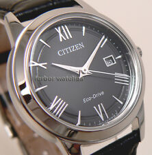 CITIZEN LADY ECO DRIVE BLACK LEATHER BAND DATE FE1081-08E cg