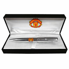Manchester United FC Official Football Gift Boxed Executive Chrome Ballpoint Pen