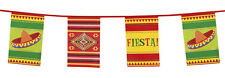 10m Mexican Mexico Fiesta Sombrero Party Decoration Square Flag Garland Bunting