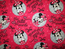 MINNIE MOUSE TOO CUTE FOR WORDS COMIC BOOK COTTON FABRIC FQ