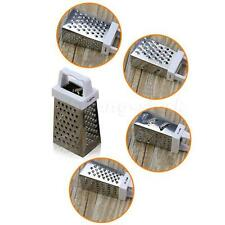 Stainless Steel 4 Sided Grater Cheese, Potatoes, Carrots Fine Medium Coarse STGG