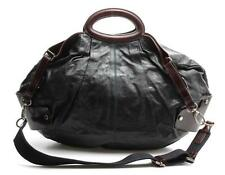 Marni Black & Brown Leather Pleated Convertible Hobo Bag