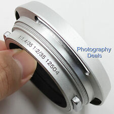 Silver Metal Lens Hood for Leica 12504 Summilux Summicron M 35mm 1:1.4 1:2 Lens