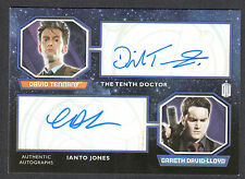 DOCTOR WHO (Topps 2015) AUTOGRAPH CARD DUAL DAVID TENNANT & GARETH DAVID-LLOYD