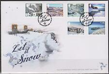 GB Isle of Man 2010 Christmas Scenes Let it Snow SG 1725/30 FDC NOEL WEIHNACHTEN