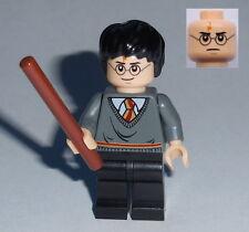 HARRY POTTER #38 Lego Harry Gryffindor Stripe w/wand.. As Shown NEW Genuine Lego