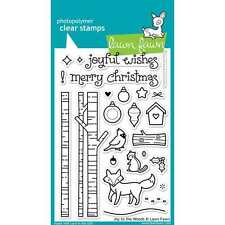 NEW LAWN FAWN JOY TO THE WOODS ACRYLIC STAMP SET