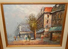CAROLINE BURNETT PARIS MARKET STREET SCENE ORIGINAL OIL ON BOARD PAINTING