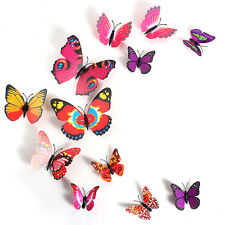 Home Decor 12PCS 3D Butterfly Sticker Decal Wall Stickers Room Decorations New