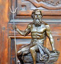 Neptun Bronzefigur Bronze Skulptur Bronzeskulptur Bronze Figur Neptun Statue