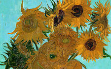 Framed Print - Vincent Van Gogh Replica Sunflowers (Picture Poster Painting Art)