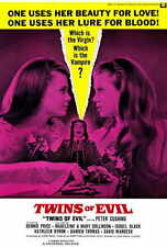 TWINS OF EVIL Movie POSTER 27x40 Madeleine Collinson Mary Collinson Peter