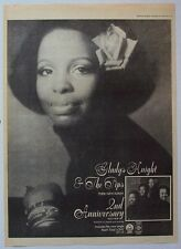 GLADYS KNIGHT & THE PIPS 1975 Poster Ad 2nd ANNIVERSARY