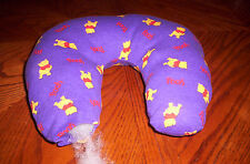 New handcrafted  boys, purple Winnie the Pooh washable child neck pillow