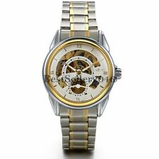 Men Luxury Stainless Steel Band Skeleton Automatic Mechanical Analog Wrist Watch