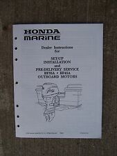 1991 Honda BF35A BF45A Outboard Set Up Installlation Pre-Delivery Manual   U