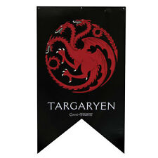 "HBO Game of Thrones XL 48"" LICENSED House TARGARYEN Dragon Sigil Banner FLAG"