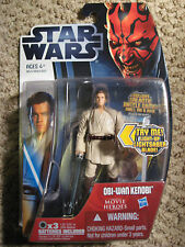 StarWars CloneWars OBI-WAN KENOBI (MH#16) Movie Heroes w/ light-up lightsaber