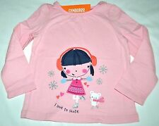 Gymboree Fair Isle Flurry GIRL & MOUSE I Love to Skate Pink Shirt 2T Girls NWT