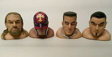 FOUR WWE Wresting finger thumb puppets CENA - BATISTA -TRIPLE H - REY MYSTERIO