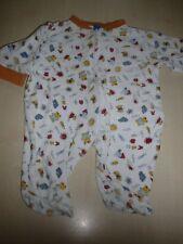 Smily toller frotteeartiger Schlafanzug Gr. 50 / 56 weiß mit tollen Motiven  !!