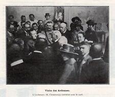 08 LECHESNE CLEMENCEAU CONVERSE AVEC LE CURE IMAGE 1919 OLD PRINT