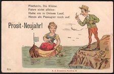 Carte allemande. bonne année 1890. Voyagé. Mulhouse. Alsace