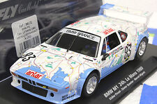 FLY A1302 BMW M1 MAP CAR LE MANS 1980 NEW 1/32 SLOT CAR IN DISPLAY CASE