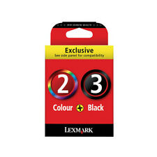 Lexmark No 2 Colour 3 Black EMPTY Original Cartridges NEVER REFILLED and PACKING