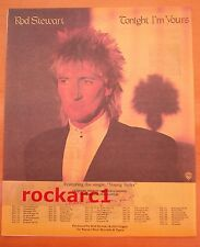ROD STEWART USA & Canada Tour 1981 Poster size Press ADVERT 12x10 inches