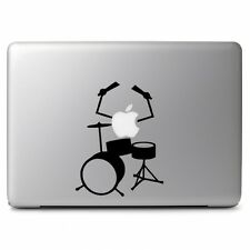 """Apple Playing Drums Music for Macbook Air Pro 13"""" 15"""" Mac Vinyl Decal Sticker"""