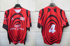Maillot rugby TOULOUSE SERGE BLANCO porté n°4 rare collection shirt L GILBERT