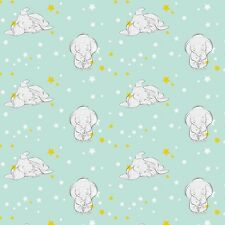 "Disney Dumbo Starry Elephants and stars 100% cotton 43"" Fabric by the yard"