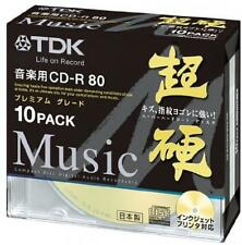 ya08263 10 TDK Blank CDR Discs for Audio Music 24x CD-R Gold Label 80min